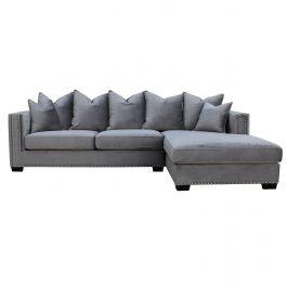 Oslo Corner Sofa Right - Grey