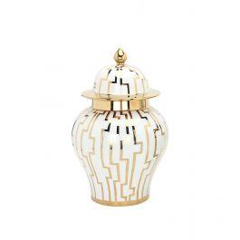 Medium Gold/White Eliza Jar