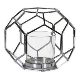 Silver Hexagon Candle Holder