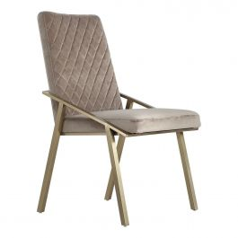 ELLE  Diamond Back Chair - Mink