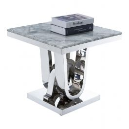 PORTLAND - Grey Side Table