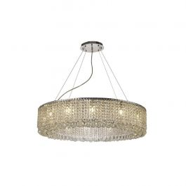 The Roscoe 85cm Round Pendant 12 Light Chandelier