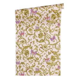 Versace Butterfly Purple+Pink Wallpaper