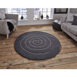 Spiral Grey Rug 180 x 180