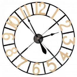 Black & Gold Metal Wall Clock