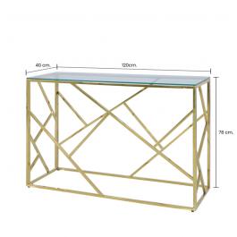 Azaria Gold Metal Console Table