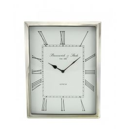 White Rectangle Wall Clock