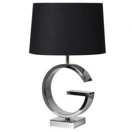 Steel And Black Table Lamp