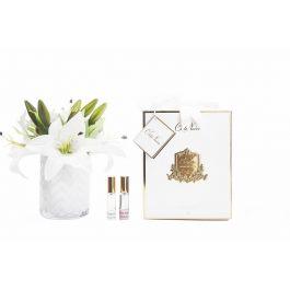 Herringbone Flower White Lillies