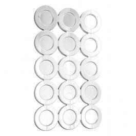 15 Circle Wall Mirror Silver