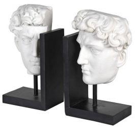White David Head Bookends