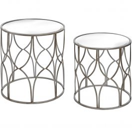 Silver Side Table Set Of Two