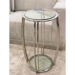SCARLETT Large Side Table - Clear glass