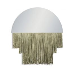 Gold Fringe Wall Mirror