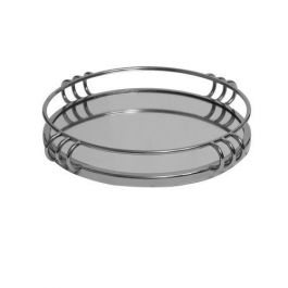 Chrome And Mirror Tray Large