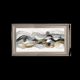 Black & Gold Abstract Champagne Venice Frame