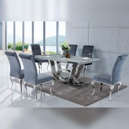PORTLAND - Grey Dining Table 1800mm