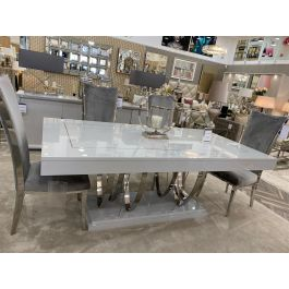 Arlo Chrome Dining Table