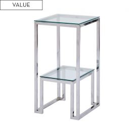 Harry Stainless Steel Telephone Table