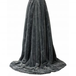Empress Charcoal 130x180 Throw
