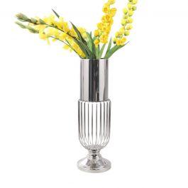Glass Bottom Chrome Vase - Large