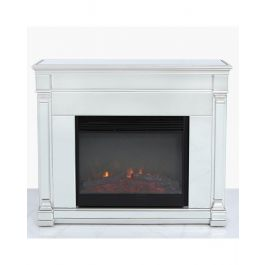 Louis Silver Fire Surround With Electric Fire Insert