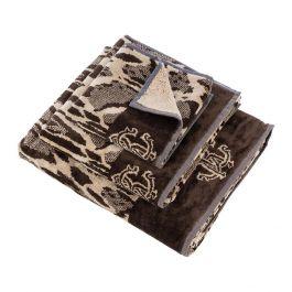 Roberto Cavalli Linx Hand Towel Brown