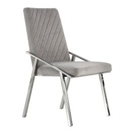 ELLE - Diamond Back Chair - Silver