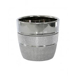 Glitz And Silver Plant Pot 15cm