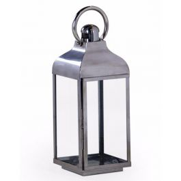 Chrome And Glass Lantern Medium
