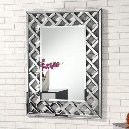 Criss Cross Rectangle Wall Mirror