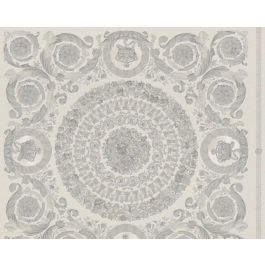 Versace Wallpaper Baroque Grey