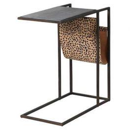 Leopard Marble Sofa Table