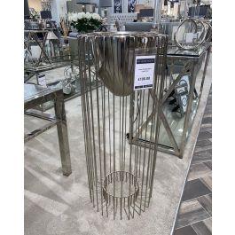Floor Standing Silver Caged Vase