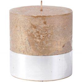 Rust Rustic Candle 10x10cm