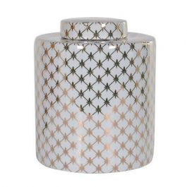 White And Gold Large Jar