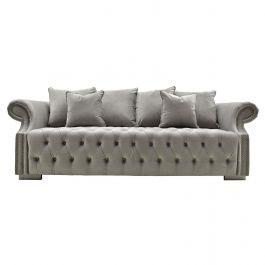 Sienna Three Seater Sofa Silver