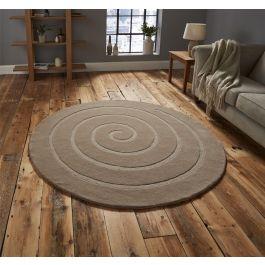 Spiral Rug Beige 180 x 180