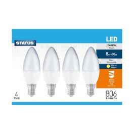 Warm White LED Small Edison Screw Bulb 4 Pack