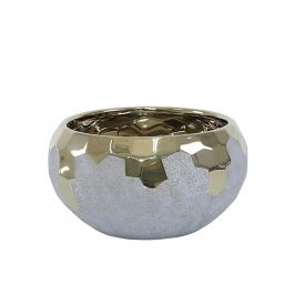 Gold And Grey Bowl 25.5cm