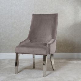 Emilia Button Back Dining Chair Latte