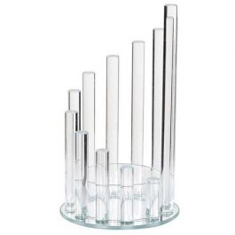 Glass Step Candle Holder Large