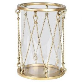 Rope Wire Gold Candleholder