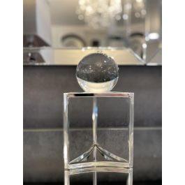 Silver Crystal Ball  Stand Small