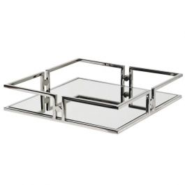 Square Nickel Mirror Tray