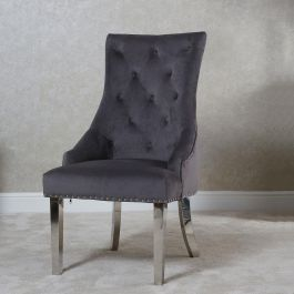 Megan Knocker Back Dining Chair Grey