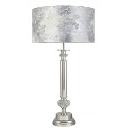 Diamante Column Marble Table Lamp