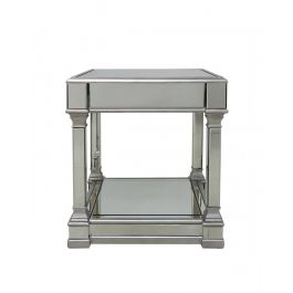 The Louis Mirror Silver End Table