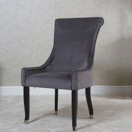 Alexa Piped Dining Chair Grey