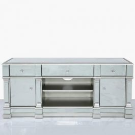 Louis Silver Tv Unit Large
